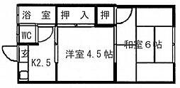 親和アパート[112号室]の間取り
