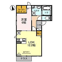 (仮)D-room堺市北区蔵前町3丁 1階1LDKの間取り