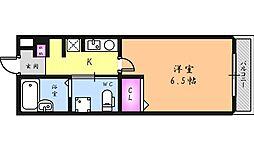大阪府堺市北区宮本町の賃貸マンションの間取り