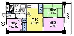 シャトー瀬戸原[1階]の間取り