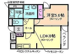 大阪府豊中市本町7丁目の賃貸マンションの間取り