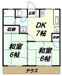 スズカンマンション[1階]の間取り