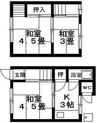 [テラスハウス] 滋賀県栗東市高野 の賃貸【/】の間取り