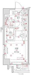 都営浅草線 浅草橋駅 徒歩2分の賃貸マンション 3階1Kの間取り