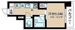 東京都品川区小山5丁目の賃貸マンションの間取り