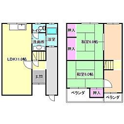 [一戸建] 大阪府寝屋川市高柳7丁目 の賃貸【/】の間取り