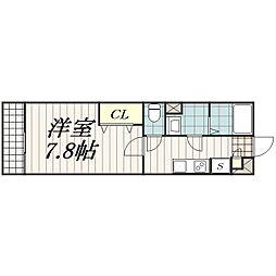 千葉県千葉市中央区蘇我5丁目の賃貸マンションの間取り