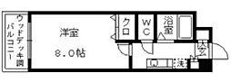 スタジオアパートメントKICHI[309号室]の間取り