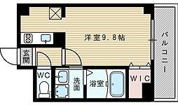 大阪府大阪市東淀川区東中島6丁目の賃貸マンションの間取り