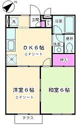ウィング・テン[1階]の間取り