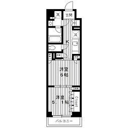 東京都練馬区高松6丁目の賃貸マンションの間取り