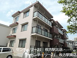 大阪府枚方市南中振2丁目の賃貸マンションの外観