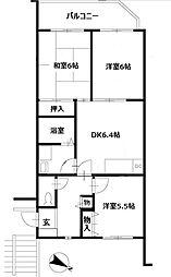 ロイヤル二俣川C棟[1階]の間取り