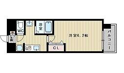 ララプレイス新大阪シエスタ 10階1Kの間取り