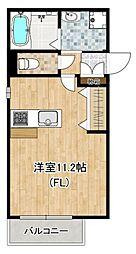 東急東横線 都立大学駅 徒歩3分の賃貸マンション 1階ワンルームの間取り