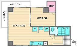 名島シーサイドヴィラ B[1階]の間取り