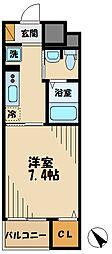 京王相模原線 京王堀之内駅 徒歩12分の賃貸マンション 4階1Kの間取り