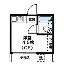 コーポ三宿[101号室]の間取り