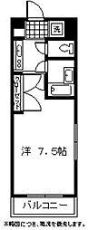 セゾン21[411号室]の間取り