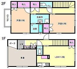 田中メゾネット[1階]の間取り