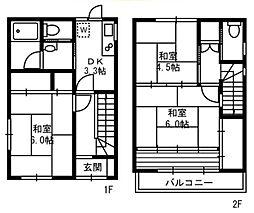 トーニ北千住戸建て 1階3DKの間取り