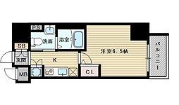 レジュールアッシュ北大阪GRANDSTAGE[5階]の間取り
