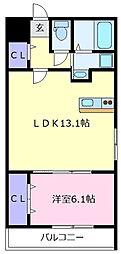 近鉄南大阪線 高鷲駅 徒歩5分の賃貸アパート 1階1LDKの間取り