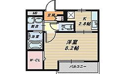大阪府堺市西区草部の賃貸アパートの間取り
