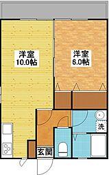CASA-TOWAII[1階]の間取り