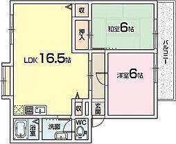 サンクレール1[2階]の間取り