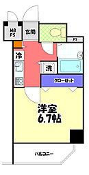 JR中央線 八王子駅 徒歩10分の賃貸マンション 3階1Kの間取り