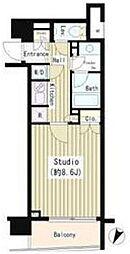 東京メトロ日比谷線 小伝馬町駅 徒歩3分の賃貸マンション 3階1Kの間取り