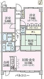青葉台ハイツ[3階]の間取り