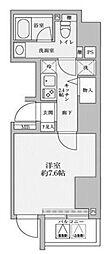リヴシティ赤坂 8階1Kの間取り
