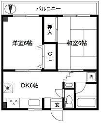 新太郎ハイツ[2階]の間取り