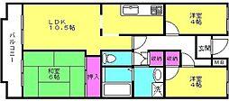 カサベルデ加古川[107号室]の間取り