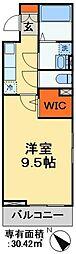 JR武蔵野線 東松戸駅 徒歩5分の賃貸アパート 1階1Kの間取り