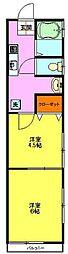 若葉荘[1階]の間取り