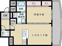 キャニスコート上新庄[5階]の間取り