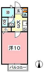 フラッツァ水江 B[202号室]の間取り
