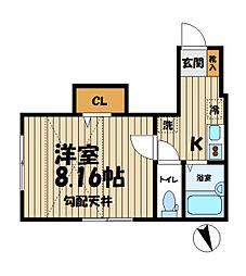 神奈川県鎌倉市大船2丁目の賃貸アパートの間取り