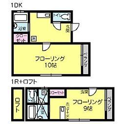シナモンハウス[101号室]の間取り