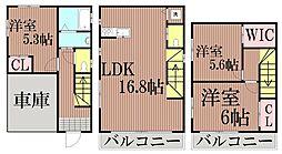 東京都大田区大森西4丁目の賃貸アパートの間取り