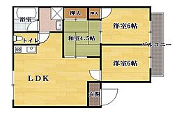 奥井第5アパート[2階]の間取り