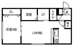 南10条西8丁目MS・B棟[103号室]の間取り