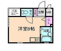 レオン天神橋[4階]の間取り