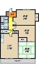 城東グリーンマンション[8階]の間取り