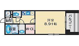 フォレステージュ江坂公園 3階ワンルームの間取り
