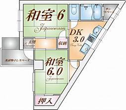 兵庫県神戸市兵庫区御崎町1丁目の賃貸マンションの間取り