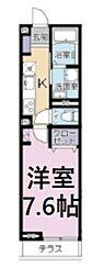 JR京浜東北・根岸線 さいたま新都心駅 徒歩9分の賃貸アパート 3階1Kの間取り